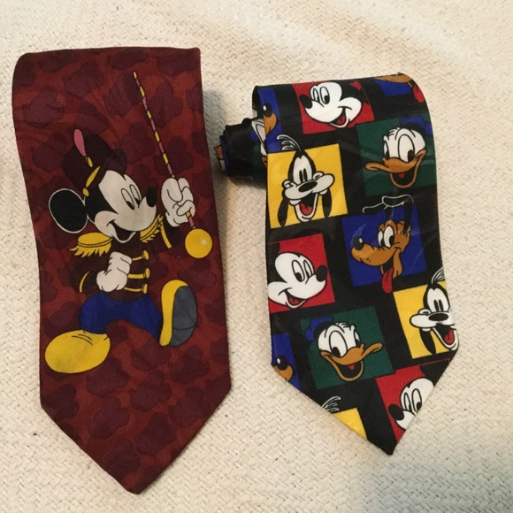 Disney Other - Pair of Disney Mickey Mouse 👔 ties